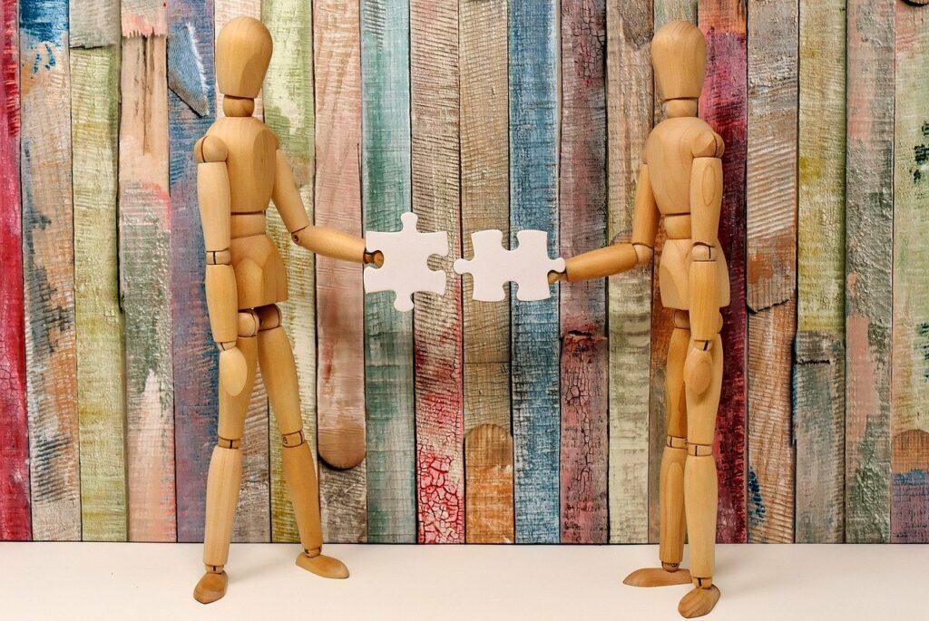 teamwork, fit together, together